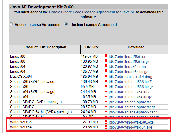 java jdk 7 32 bit free download