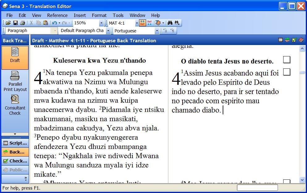 back to back translation