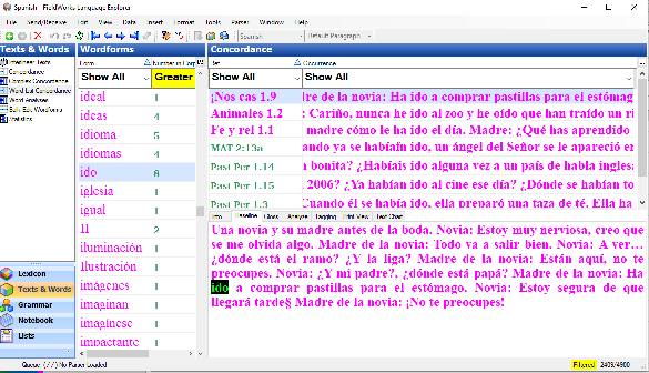 Screenshot of Lexicon Edit view