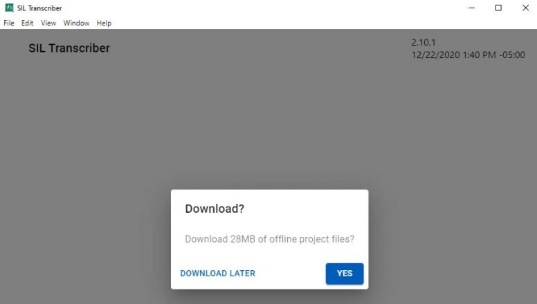 downloading project(s)