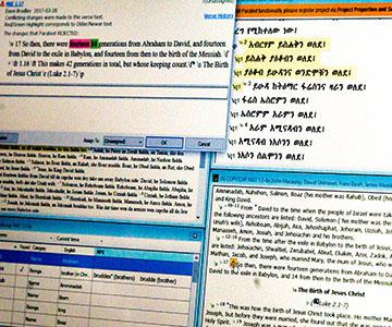 Screenshot of Paratext