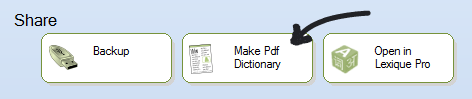 Make Pdf Dictionary button