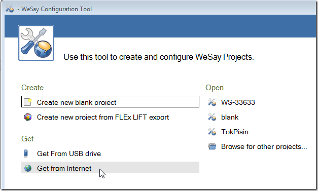 WeSay Configuration Tool