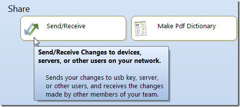 Send/Receive Changes to devices, servers, or other users on your network